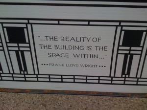 """The reality of the building is the space within."""